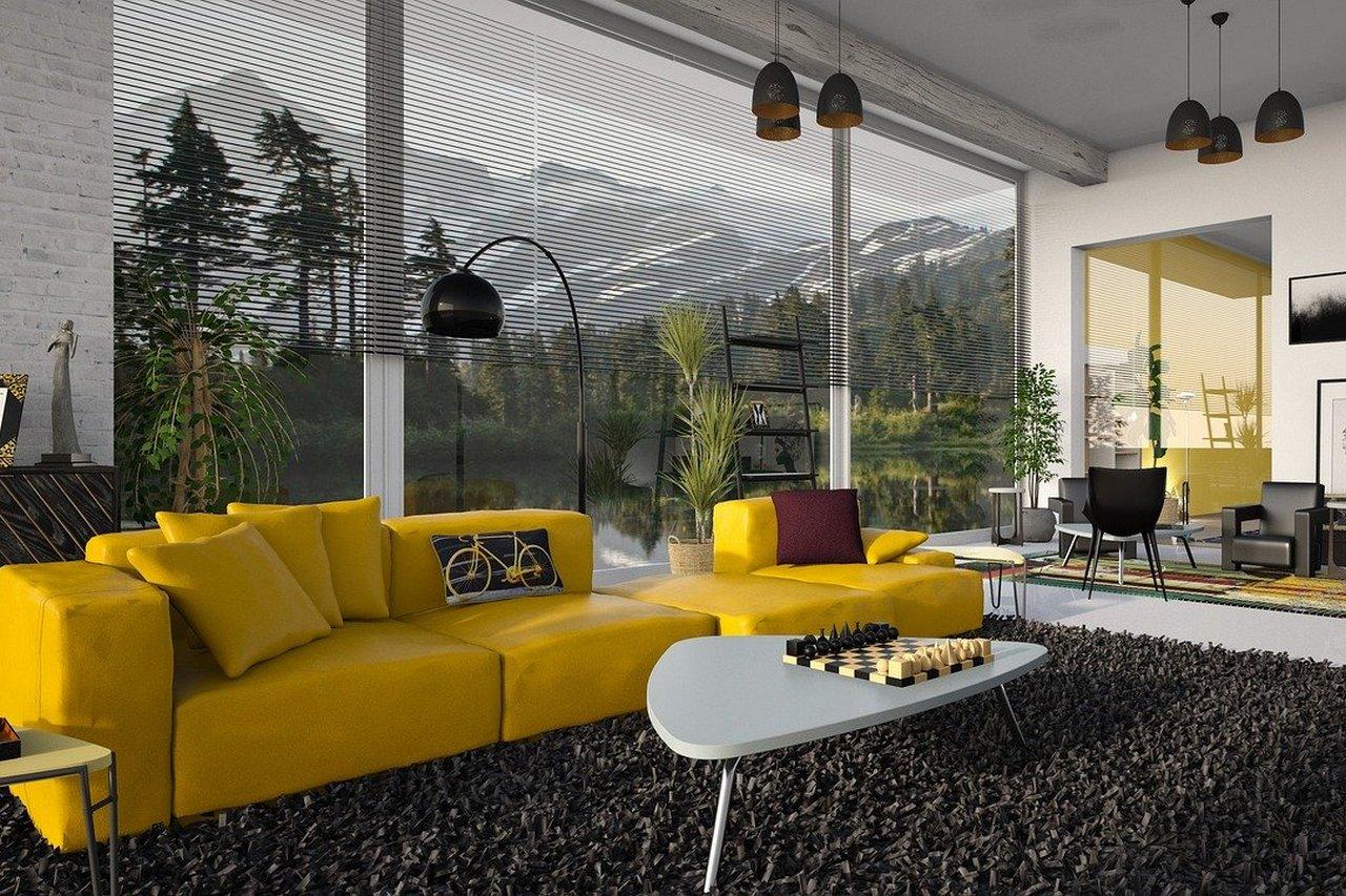 Żółte meble w domu